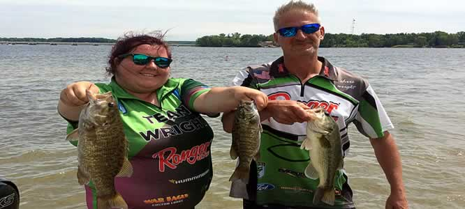 Lake Milton OH - Better Half Tour Couples Bass Fishing